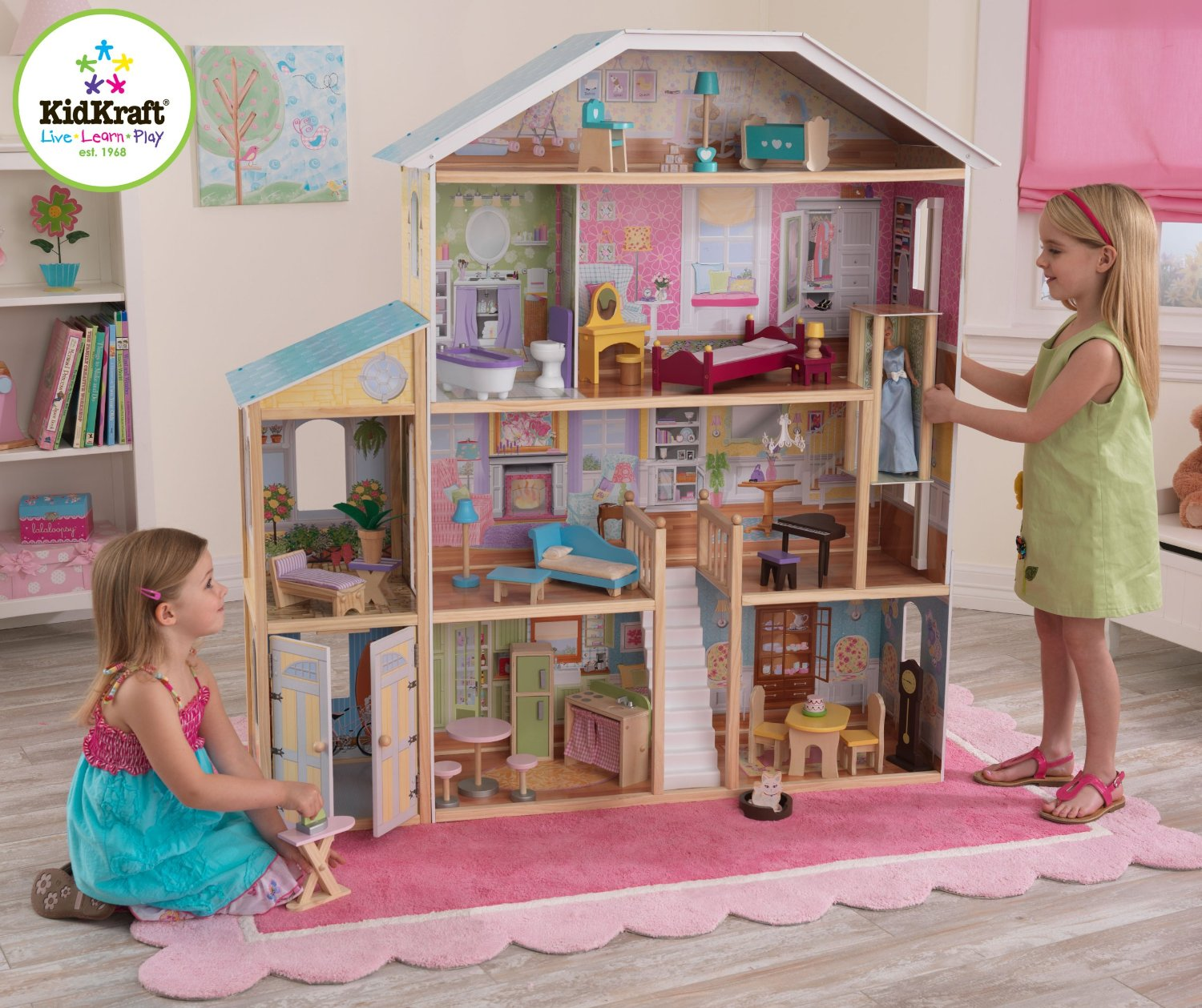 We love the majestic mansion dollhouse huge and super cute for Young house love dollhouse