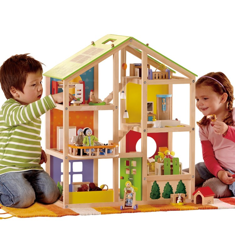 best wooden dollhouse hape all season review. Black Bedroom Furniture Sets. Home Design Ideas
