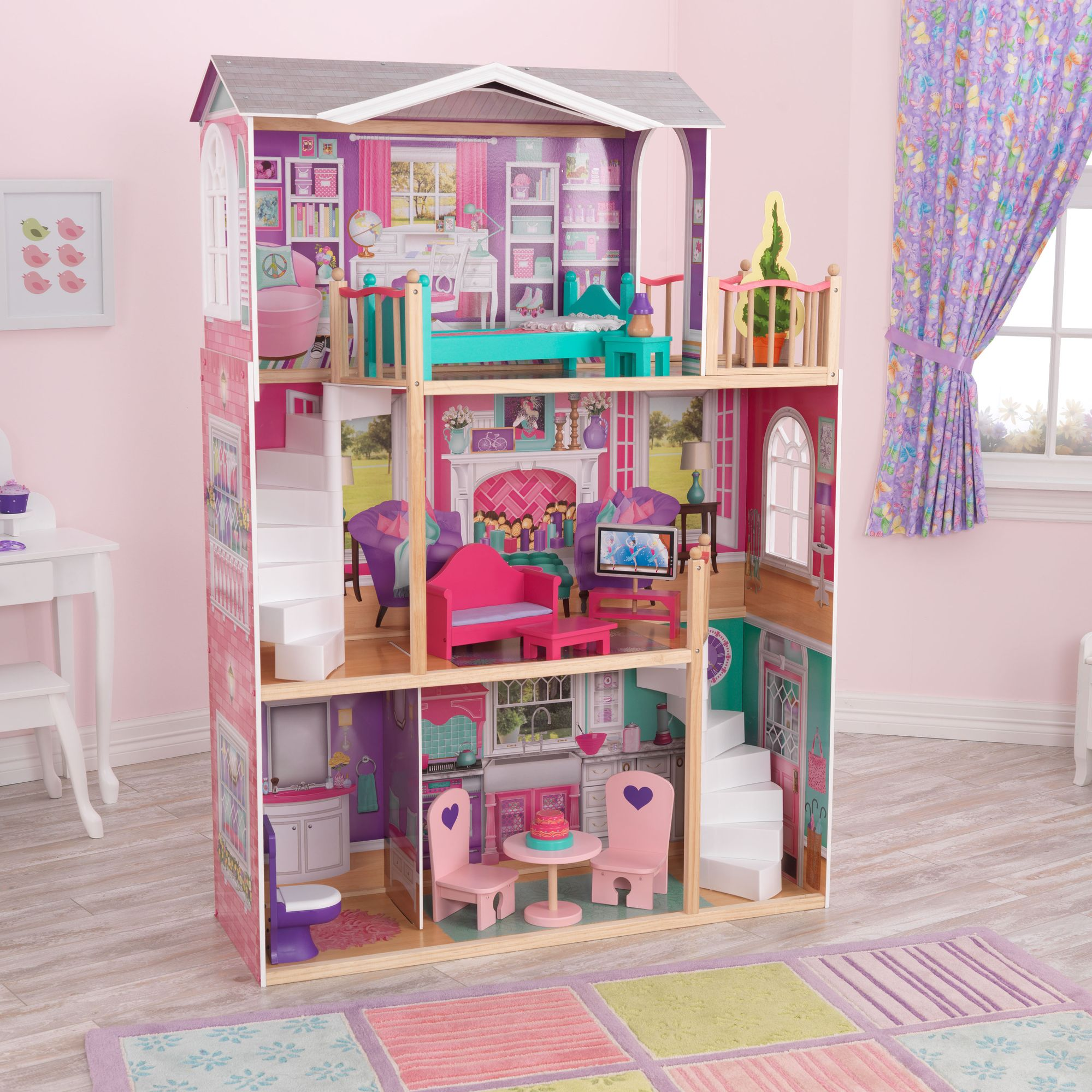 Hape all season dollhouse nice house for boys and girls - Maison poupee kidkraft ...