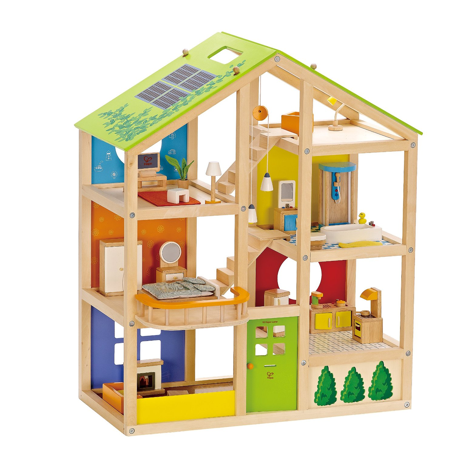 Toys For House : Best wooden dollhouse hape all season review
