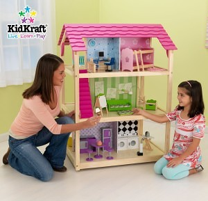 So Chic doll's house - kidkraft wooden dollhouse